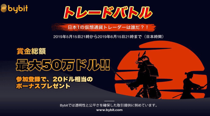 最大賞金50万ドル!Bybit Japanトレードバトルの概要と参加方法