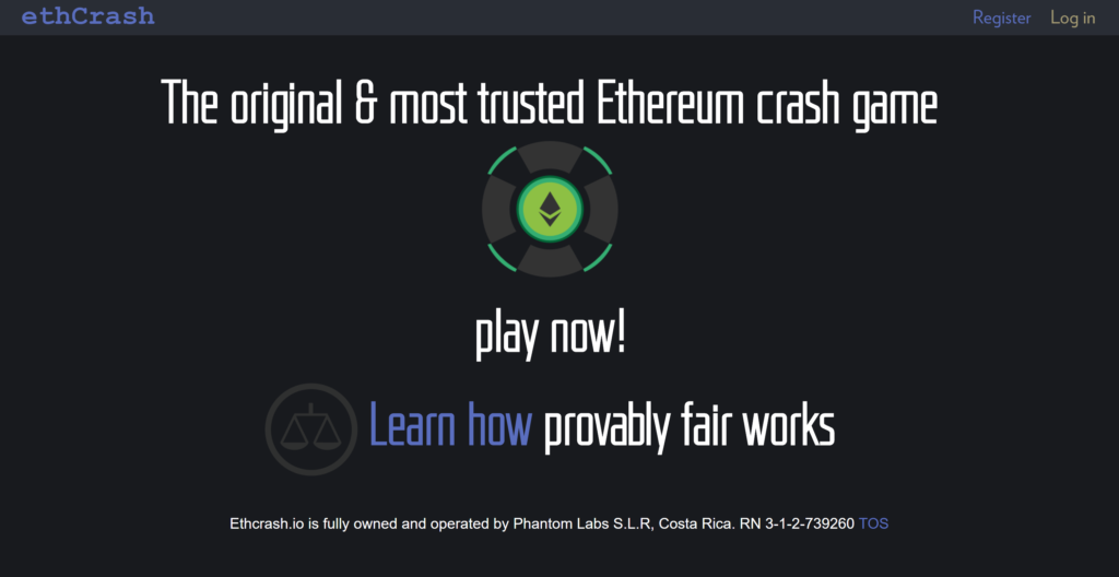 【サービス終了】EthCrash(イーサクラッシュ)とは?ゲームの始め方と遊び方を解説