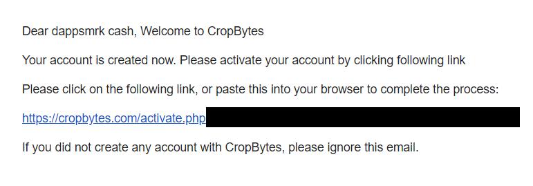 クロップバイト CropBytes 登録方法 スマホ Dapps ブロックチェーンゲーム