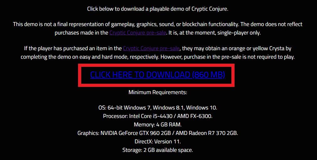 CrypticConjure demo デモ クリプティックコンジャー 遊び方 始め方 操作方法