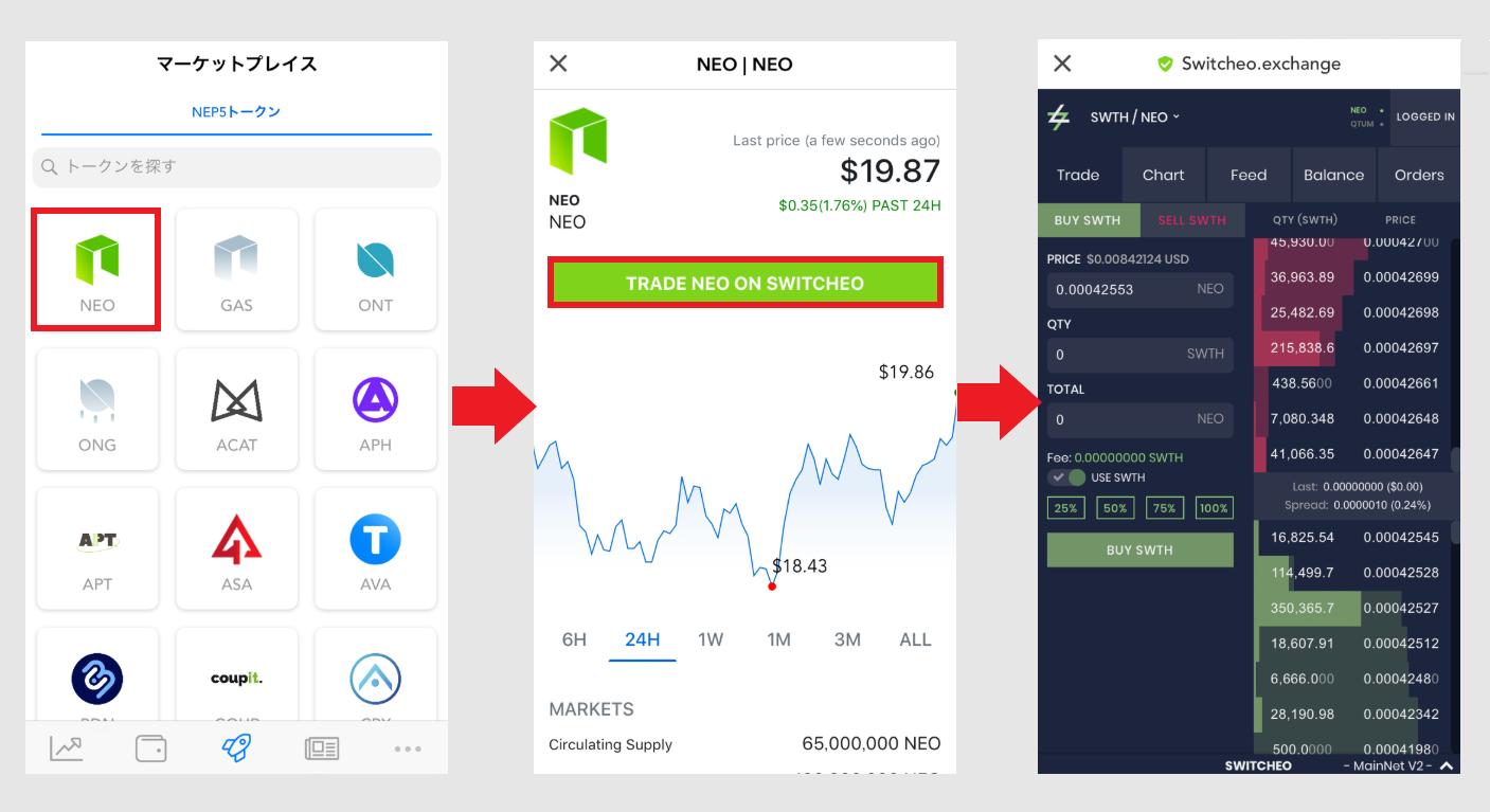 NEO O3 wallet 登録方法 入金 出金 使い方