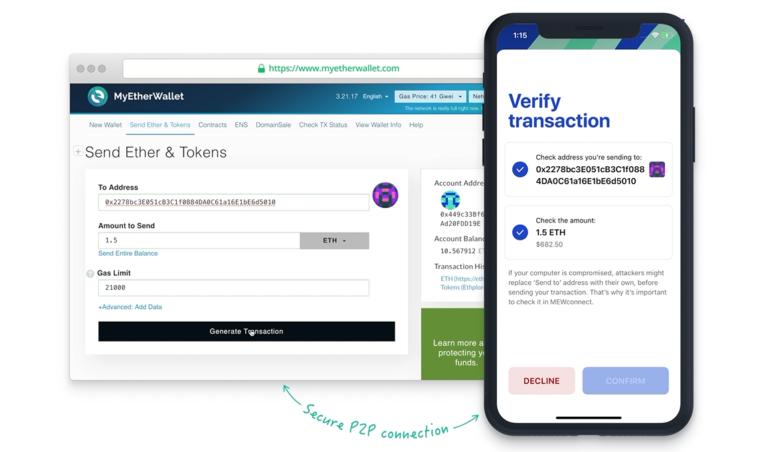 アプリがETHのハードウォレットに!MEWconnectの登録方法と使い方