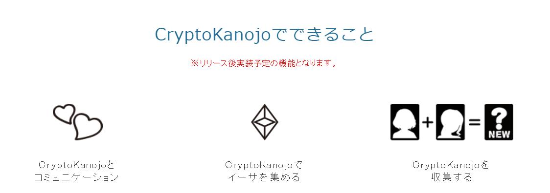 CryptoKanojo クリプト彼女 ゲーム概要 クラウドセール