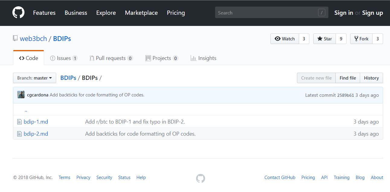 BCH ビットコインキャッシュ BDIP Dapps 技術提案書