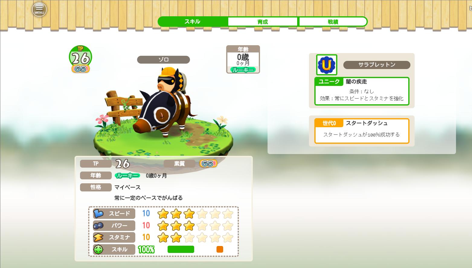くりぷ豚 レース β 攻略 スキル コース グラントンリスモ 賞品