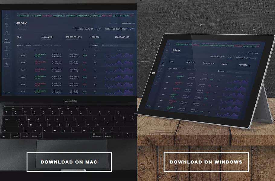 HB Wallet デスクトップ PC ウォレット ブロックチェーンゲーム インストール 使い方 インポート