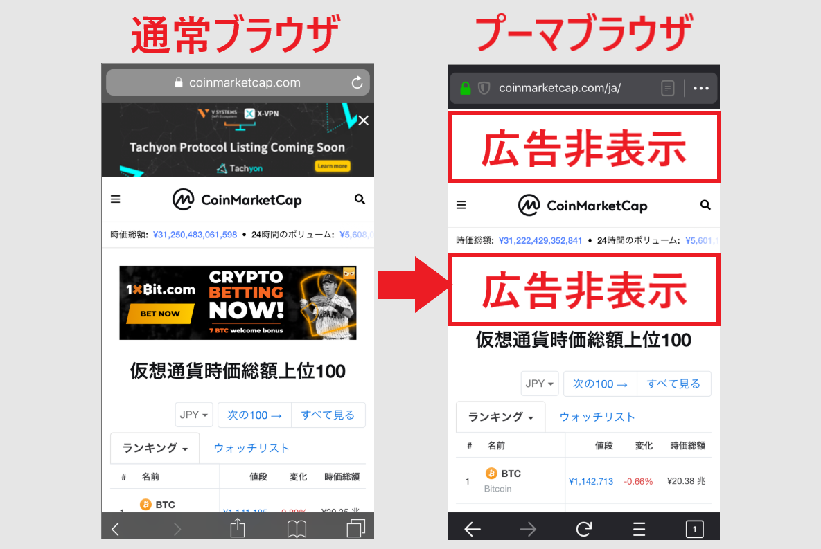 PumaBrowser プーマブラウザ 使い方 始め方 アプリ
