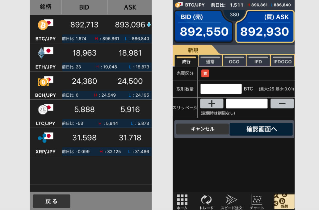 仮想通貨 取引所 アプリ 取引