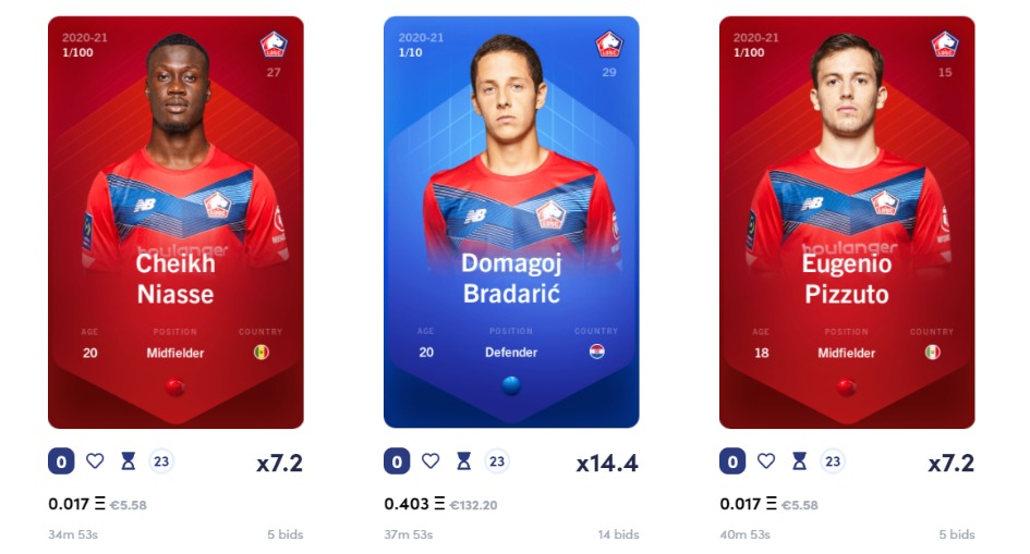 Sorare ソレア ソラレ ファンタジーサッカー ブロックチェーンゲーム