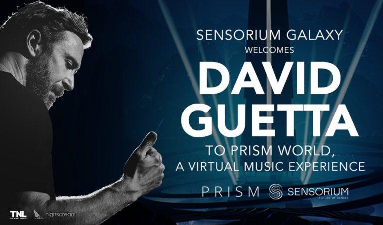 VRプラットフォームSensoriumGalaxyがデヴィッド・ゲッタと契約