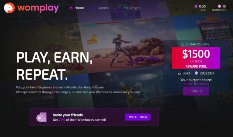 Womplay 遊び方|EOSの稼ぎ方とプラットフォームの特徴を紹介