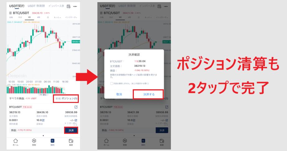 ディープコイン アプリ App 使い方 機能