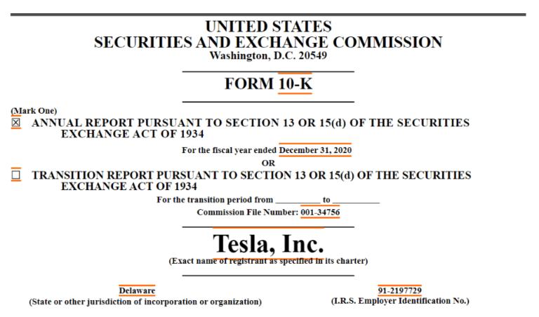 テスラ社・ビットコイン購入を発表!SECへの報告書から見る今後の動き