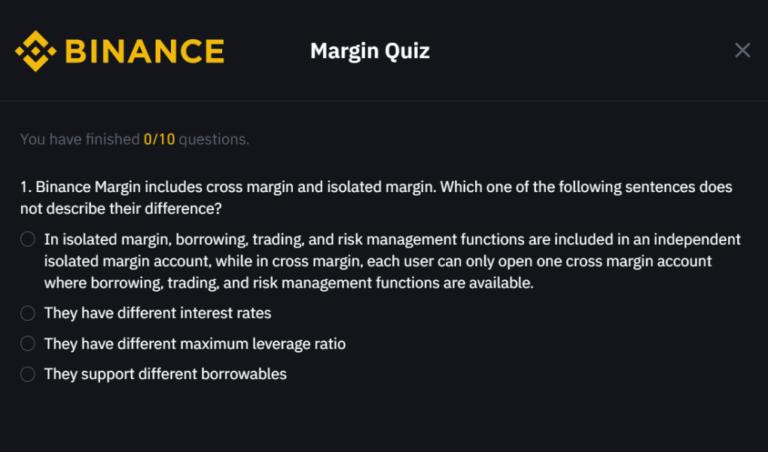 バイナンス|証拠金取引を行う前の質問内容と回答まとめ