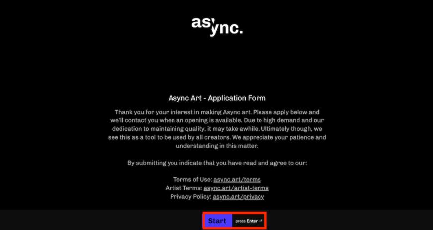 Async Art クリエイター登録