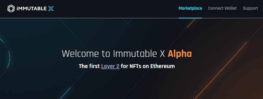 Immutable X マーケットプレイス