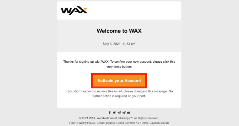 WAX プラットフォーム NFTマーケット ウォレット 作成