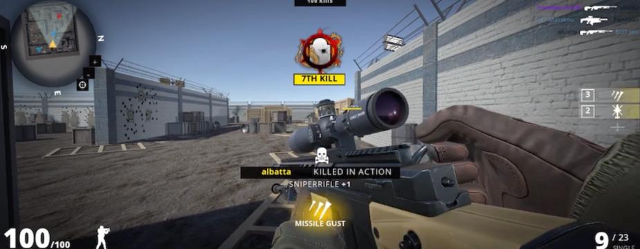 Pandemic Shooter プレイ画面