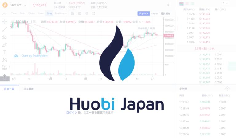 Huobi Japan(フォビジャパン) トレード方法と取引所の使い方